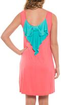 Pink & Aqua Bow-Back Sleeveless Dress
