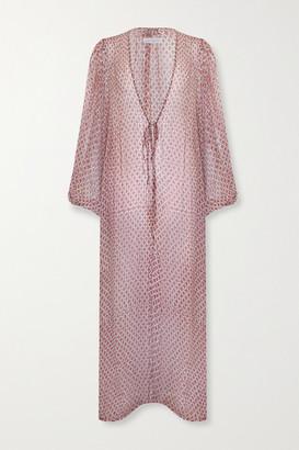 CLOE CASSANDRO + Net Sustain Lea Printed Silk Maxi Dress - Brown