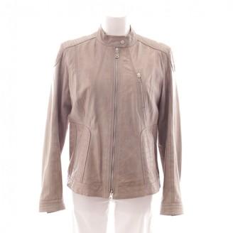 Bogner Grey Leather Jacket for Women
