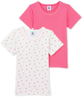 Petit Bateau Set of 2 girls plain t-shirts