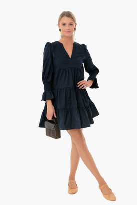 Pomander Place Navy Kenzo Tiered Mini Dress