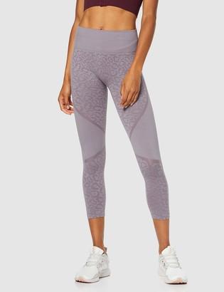 Aurique Amazon Brand Women's Seamless Animal Print 7/8 Sports Leggings