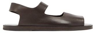 Marsèll Sandello Grained-leather Sandals - Mens - Dark Brown