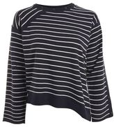 Topshop Asymmetric hem stripe jumper