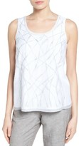 Nic+Zoe Women's White Sands Embroidered Tank