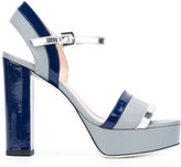 Pollini platform buckled sandals - women - Leather/Patent Leather - 37