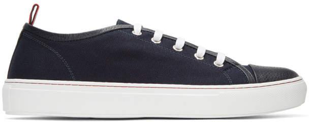 Moncler Gamme Bleu Navy Canvas Sneakers