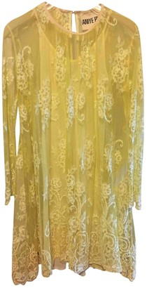 Aniye By Yellow Lace Dress for Women