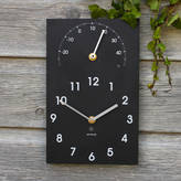 A Short Walk ashortwalk Eco Recycled Outdoor Clock And Thermometer