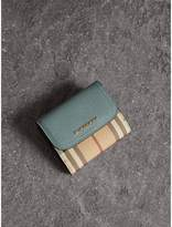 Burberry Leather and Haymarket Check Wallet