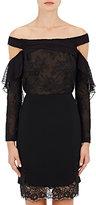 J. Mendel Women's Lace & Swiss Dot Off-The-Shoulder Blouse-BLACK