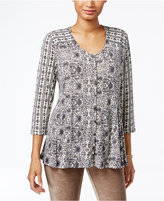 Style&Co. Style & Co Printed Swing Blouse, Only at Macy's