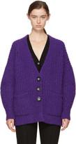 Isabel Marant Purple Favian Cardigan