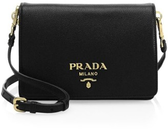 Prada Small Daino Leather Shoulder Bag