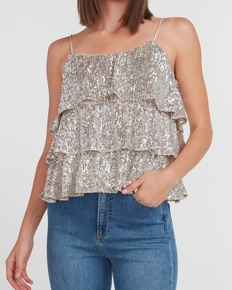 Express Tiered Sequin Cami
