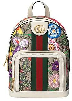 Gucci Women's Small Ophidia GG Floral Canvas Backpack