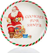 Spode Candy Cane Cookies for Santa Plate, Created for Macy's