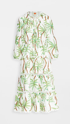 Farm Rio Swinging Palm Linen Dress
