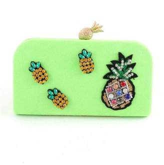 Madison Avenue Accessories Neon Pineapple Clutch