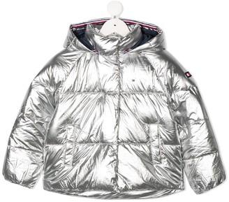 Tommy Hilfiger Junior Metallic Hooded Padded Jacket
