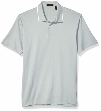 Theory Men's Standard Current Pique Polo with Tipping On The Collar