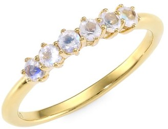 Astley Clarke 14K Yellow Goldplated & Rainbow Moonstone Ring