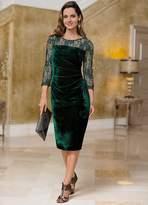 Together Velvet Lace Sleeve Dress