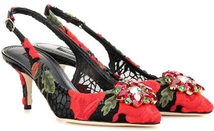 Dolce & Gabbana Exclusive to mytheresa.com – embellished sling-back pumps