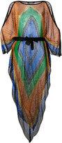 Balmain cold-shoulder dress - women - Acrylic/Polyamide/Polyester/Viscose - 38