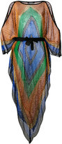 Balmain cold-shoulder dress - women - Viscose/Acrylic/Polyester/Polyamide - 36