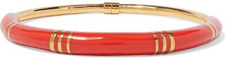 Aurelie Bidermann Positano 18-karat Gold-plated Enamel Necklace