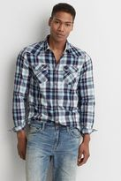 American Eagle Outfitters AE Plaid Western Shirt