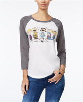 Mighty Fine Peanuts Juniors' Graphic Baseball T-Shirt