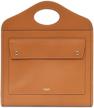 Burberry Medium Bridle Pocket Tote Bag