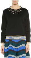 Fendi Black&gold Studs Long Sleeves Sweatshirt
