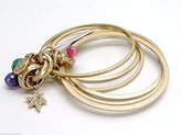 Jessica Simpson Disco Diva Bangles Bracelet Set Of 6 Goldtone
