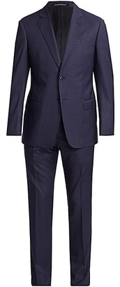 Emporio Armani Slim-Fit Check Plaid Virgin Wool Suit