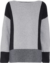 Vince Color-block wool and cashmere-blend sweater
