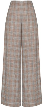 Roland Mouret Tayport wide-leg checked trousers