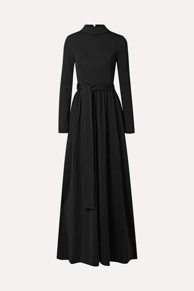 The Row Damico Ponte Gown - Black