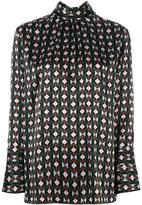 Fendi colour-block geometric blouse - women - Silk - 40