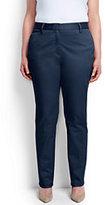 Classic Women's Plus Size Mid Rise Straight Leg Chino Pants-Steel Gray