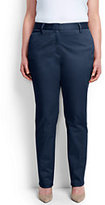Classic Women's Plus Size Petite Mid Rise Slim Leg Chino Pants-Steel Gray