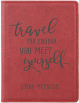 Stamp Out Passport Holders rose - Rose 'Travel Far Enough' Personalized Passport Cover