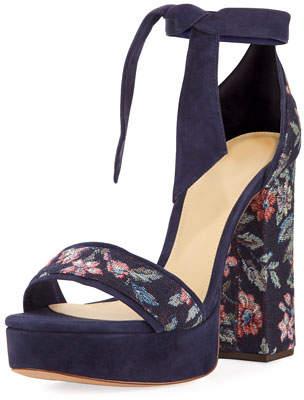 Alexandre Birman Celine Fabric 120mm Platform Sandal