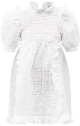 Cecilie Bahnsen Lotta Cotton-blend Cloque Dress - White