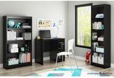 South Shore Freeport Small Work Desk in Pure Black