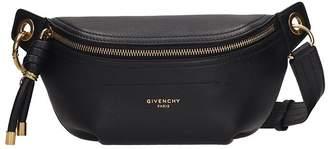 Givenchy Black Leather Mini Whip Bum Bag