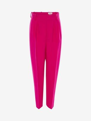 Alexander McQueen Light Wool Silk Peg Pants