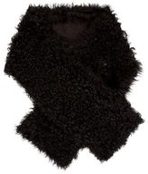 J. Mendel Leather-Trimmed Shearling Scarf